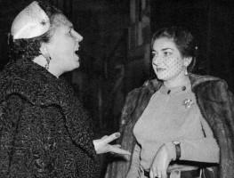 Elena Nicolai e Maria Callas durante le prove