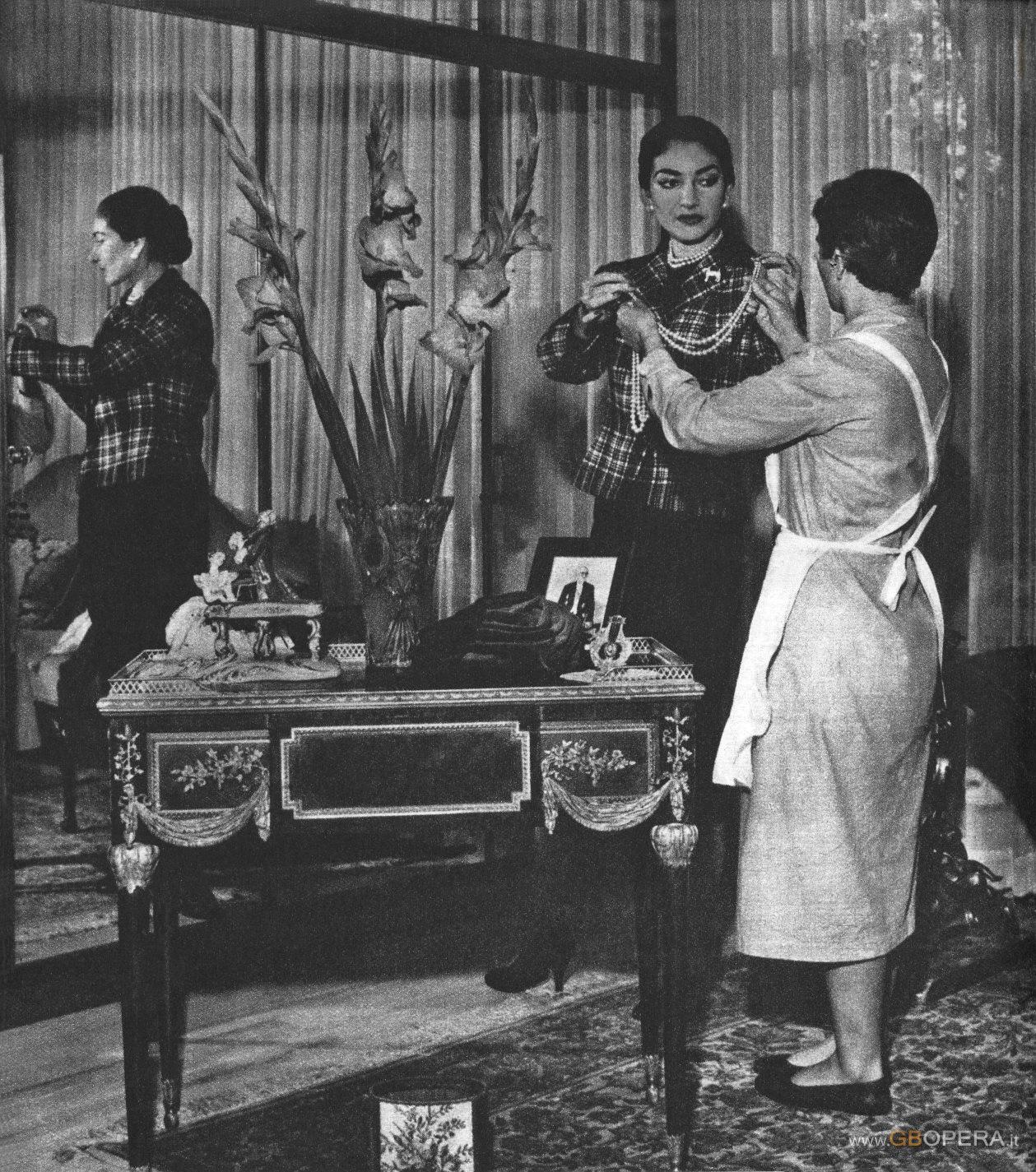 Maria Callas e le…cameriere