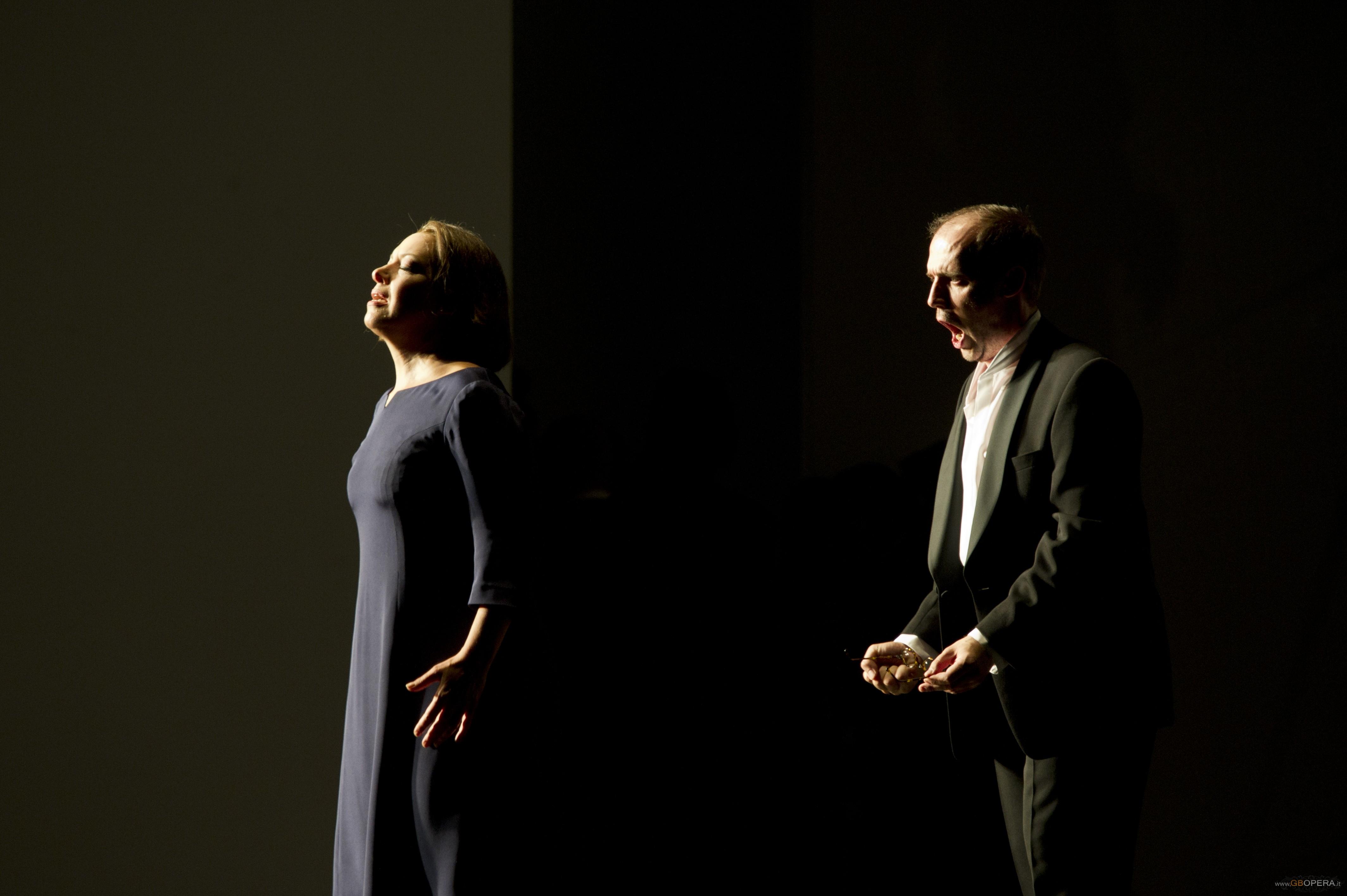 Nina Stemme (Elisabeth) et Stéphane Degout (Wolfram von Eschenbach)