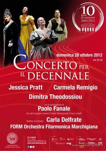 """Concerto per il decennale del Teatro delle Muse """"Franco Corelli"""" di Ancona"""