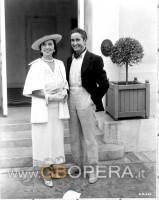 con il soprano A.Galli-Curci