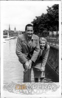 Con la moglie Nancy