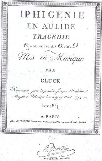 "Christoph Willibald Gluck: ""Iphigénie en Aulide"""