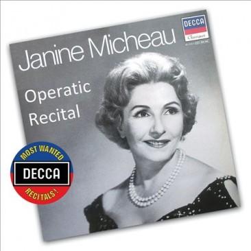 Janine Micheau (1914-1976): Operatic recital