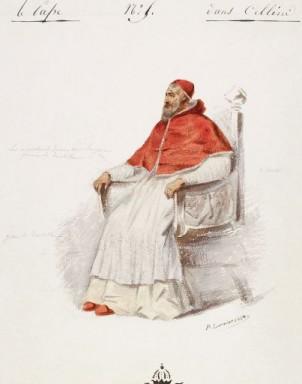 Costume del Papa (sostituito dal Cardinale)