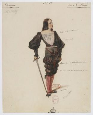 Costume di Ascanio disegnato da Paul Lormier per la prima
