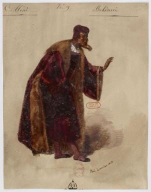 Costume di Balducci disegnato da Paul Lormier per la prima