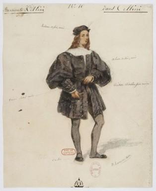 Costume di Cellini disegnato da Paul Lormier per la prima
