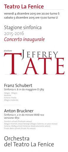 Teatro La Fenice: Jeffrey Tate inaugura (dopo quella lirica) anche la nuova stagione sinfonica