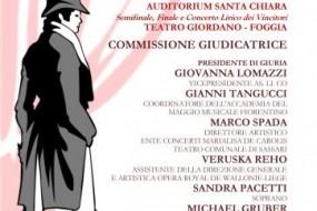 """Foggia, 1° Edizione del """"Concorso Lirico Internazionale Andrea Chénier"""""""