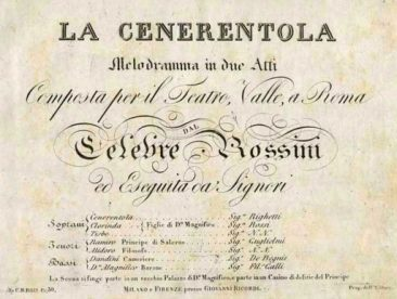 """""""La Cenerentola"""" di Rossini a duecento anni dalla prima"""