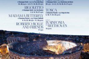 Arena di Verona 95° Opera Festival 2017 dal 23 giugno al 27 agosto
