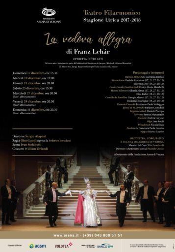 La Vedova Allegra apre la stagione lirica  2017-2018 al Teatro Filarmonico di Verona