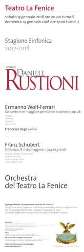 Venezia, Teatro la Fenice: Concerto Daniele Rustioni & Francesca Dego