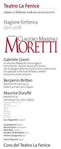 Venezia,  Il Coro del Teatro La Fenice in concerto