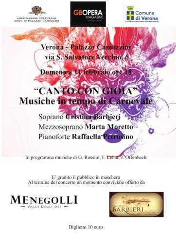 """Verona, Palazzo Camozzini: """"Canto con gioia"""""""