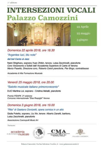 Verona: Intersezioni vocali a Palazzo Camozzini