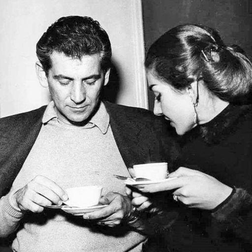 Leonard Bernstein e Maria Callas
