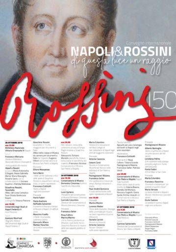"""Napoli & Rossini: """"Di questa luce un raggio"""". Convegno internazionale"""