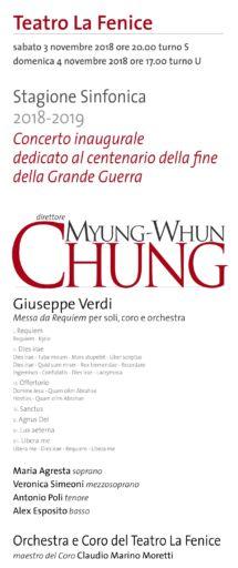 """Venezia: la  """"Messa da Requiem"""" di Verdi ha aperto la stagione sinfonica del teatro la Fenice"""