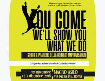 """You Come. We'll Show You What We Do"". Storie e pratiche della Contact Improvisation"