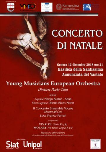 """Genova: Concerto di Natale con la """"Young Musicians European Orchestra"""""""